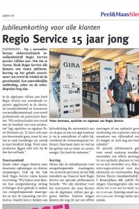 Regioservice - Persbericht